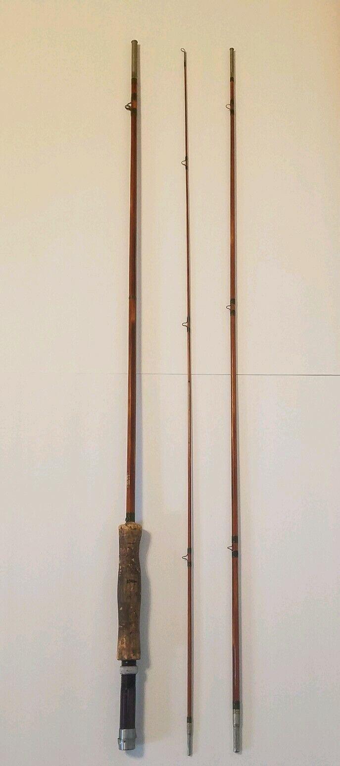 Vintage 3 Piece South Bend Split Bamboo Fly Fishing Rod Pole 359'Original