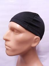 black Dome Spandex Cap Biker Helmet Liner Sports Foot Ball Beanie Hat Head wrap