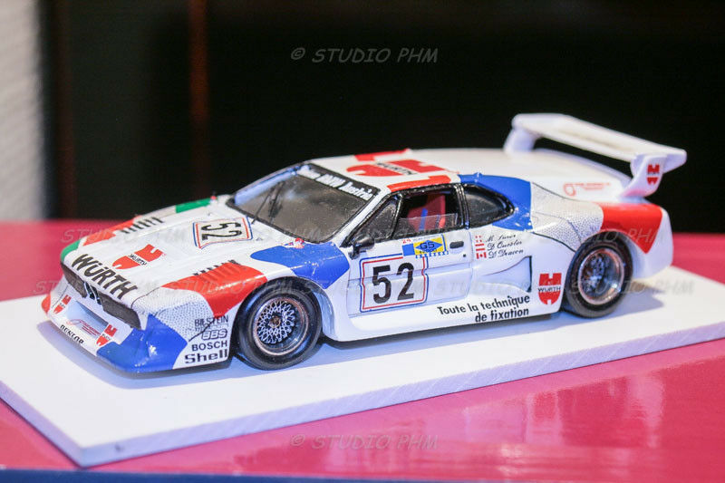 BMW M1 Gr5 N 52 WURTH-TEAM SAUBER 24H du MANS 81 1:43 Record  No Spark