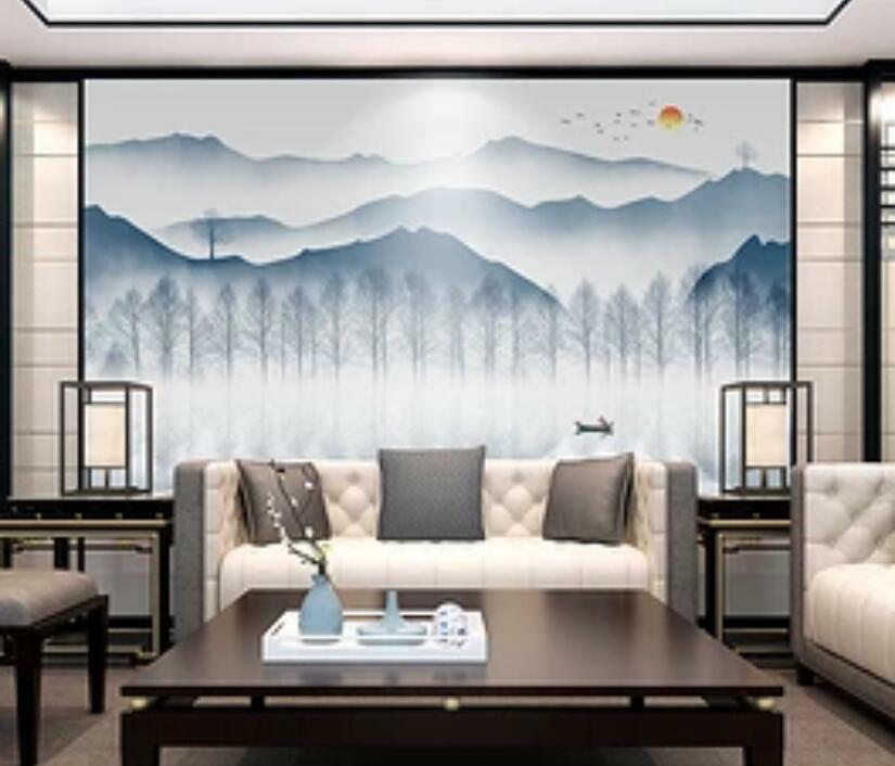3D Landschaft Malen H1547 Tapete Wandbild Selbstklebend Abnehmbare Aufkleber Wen