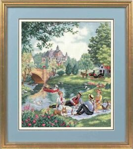 Details about Counted Cross Stitch Kit DIMENSIONS GOLD COLLECTION - PICNIC  ON THE LAWN
