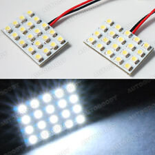 2 X White Led Panel 20 Smd Dome Map Door Light Super Bright 41