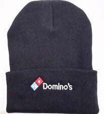 41ca8db0f89 DOMINO S Black Knit Beanie Winter Hat Toque Skull Cap Cuffed 100% ACRYLIC