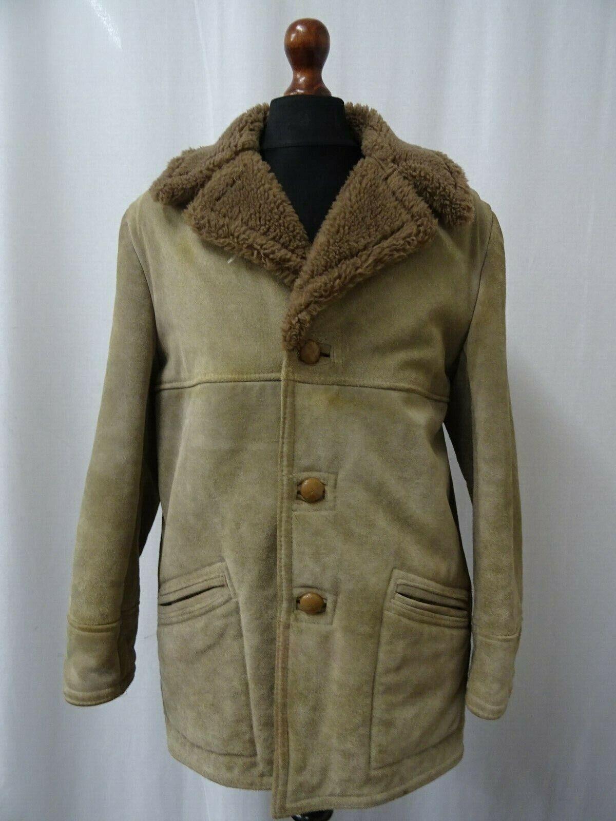 Oaklands bruin Sheepskin Shearling Coat 36R