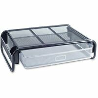 Lorell Monitor Stand, 18-1/2x14-1/2x4-5/8, Silver/black 80631 on sale
