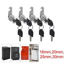 4pcs Cylinder Cam Locks Keyed Tool Box File Cabinet Desk Drawer With 8 Keys Kit