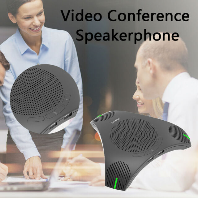 USB Inferface 2W Conferencing Microphone Speakerphone 360 degree Pickup De-noise