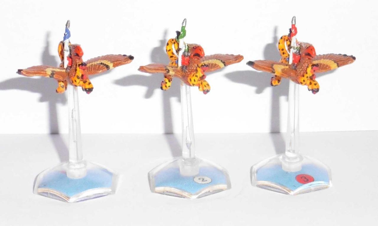 RARE Citadel GW Man O 'War Épuisé peint Empire Griffon Rider Escadron X 3 modèles