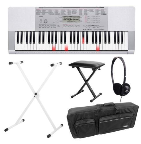 geniales Casio Keyboard LK-280 Lernen mit Leuchttastensystem SET Zubehör Ständer
