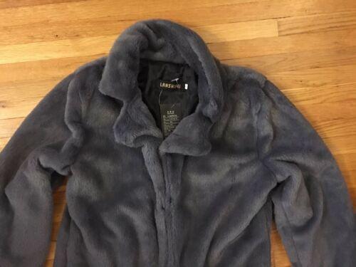 Faux Nwt Grey 4 størrelse Fur Xl Størrelse Coat Kvinders Us Lanshifei Outerwear TIwId1