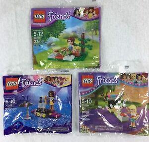 Lego Friends 30108 30205 30399 Polybag Lot Bundle Of 3 Mia Andrea