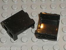 2 x LEGO black panel ref 87552 / Set 70810 70815 6243 76005 76042 75059 4840 ...