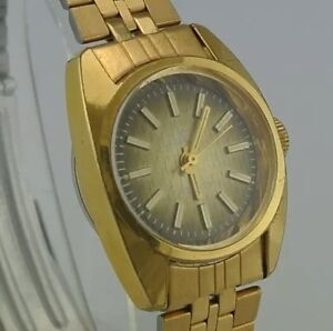 DUGENA-Sporty-Damenuhr-Handaufzug-vergoldet