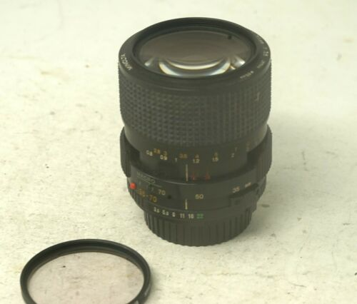 Working Minolta 35-70mm Constant f//3.5 Macro Zoom Lens MD Mount