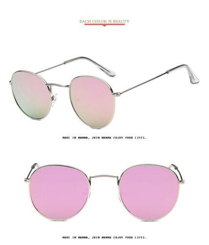 Unisex Metallrahmen Retro Sonnenbrille Vintage Runde Brille Oval Brillen Außen