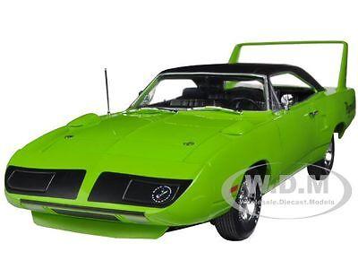 "1970 PLYMOUTH SUPERBIRD GREEN ""CAR & DRIVER"" MAGAZINE CAR 1/18 AUTOWORLD AMM995"