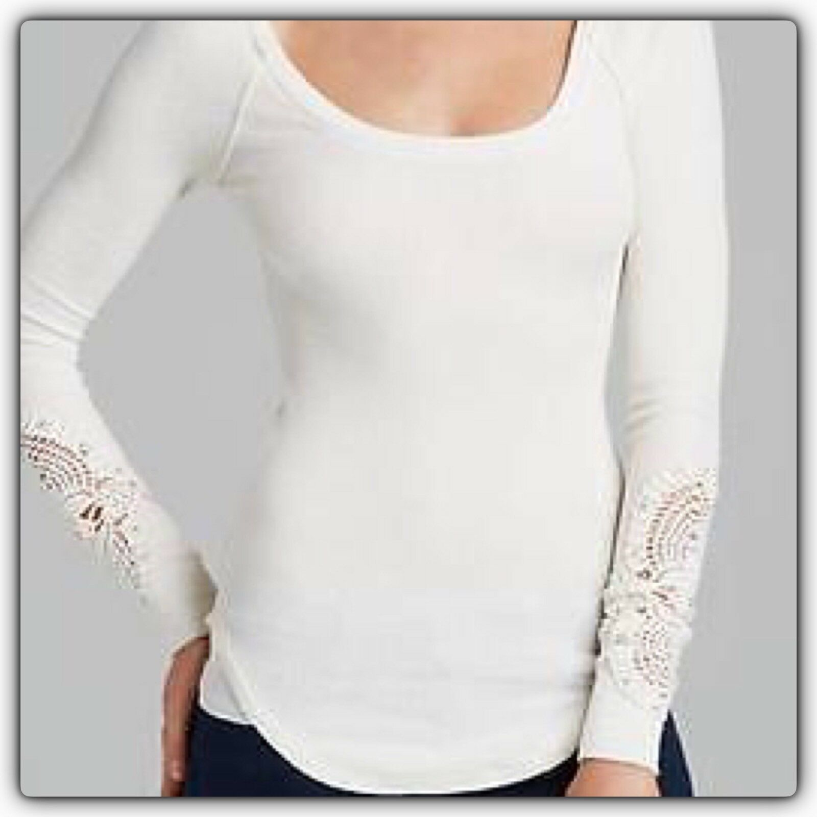 Free People Synergy Cuff Thermal Top L