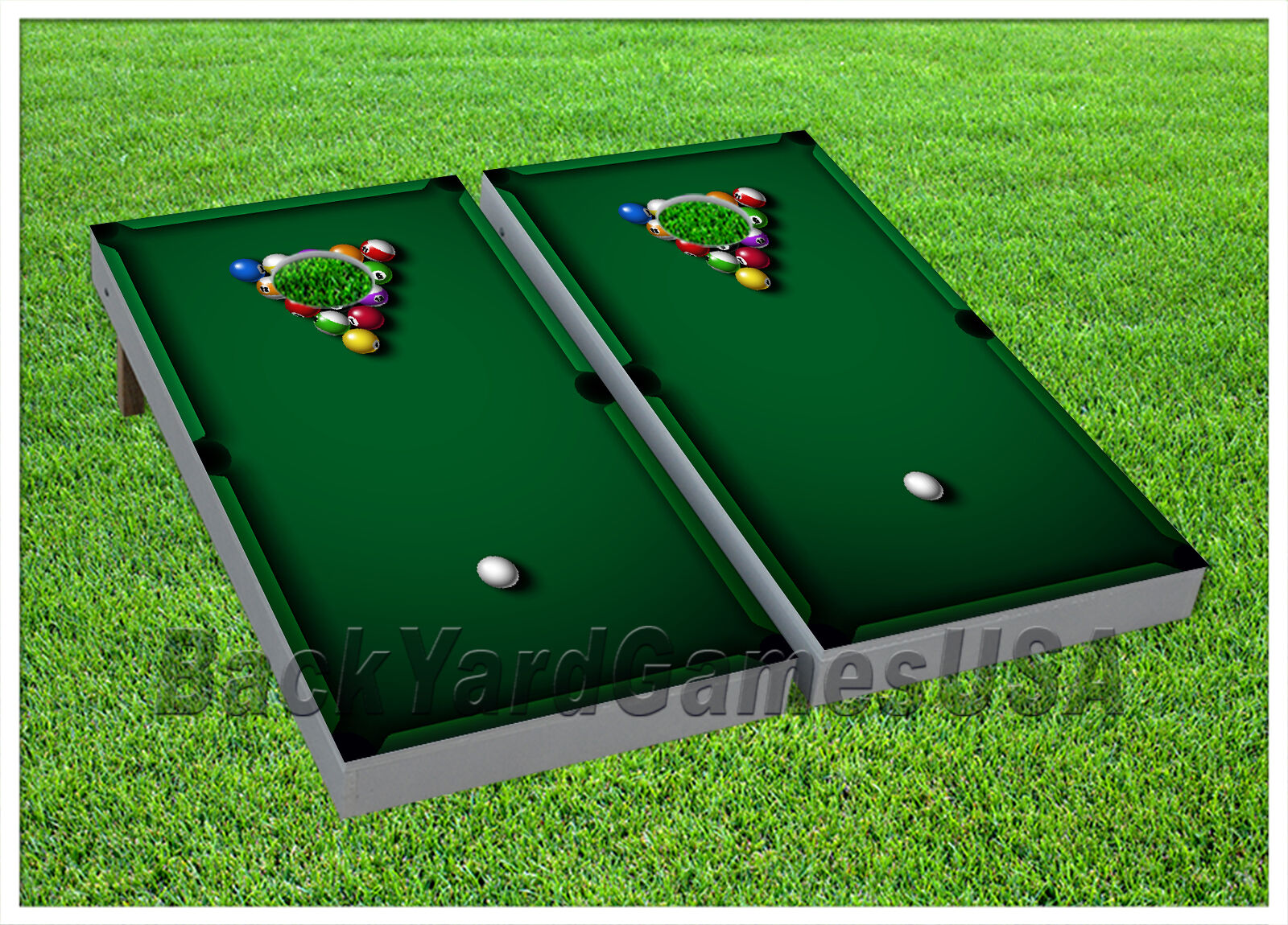 CORNHOLE BEANTasche TOSS GAME w Tasches Game Boards Billard Pool Grün Set 920