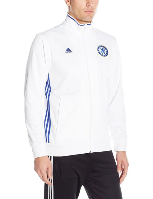 07474d404c7 Adidas CHELSEA FC 3-S TRACK Soccer Training Sweat Shirt Jersey Jacket Top ~Size