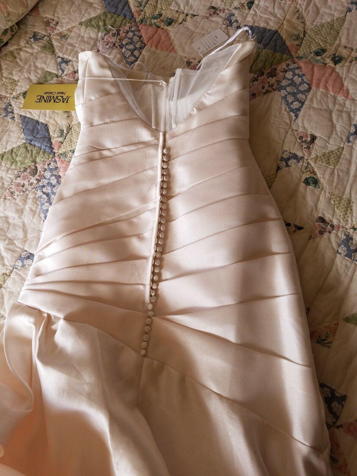 Jasmine Couture Ivory Wedding Dress Size 10 - image 4