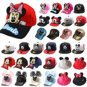7b5184be6 Kids Boys Girls Mickey Minnie Mouse Baseball Cap Hip Hop Toddler ...