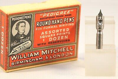 Vintage William Mitchell Pedigree Round Hand Dip Pen Nib 5 No