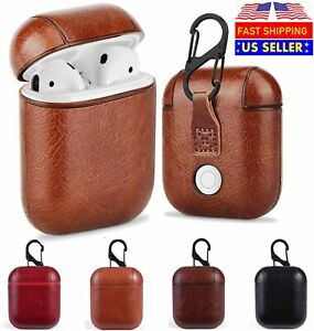 Luxury For AirPods Case Leather Protective Cover Skin For Apple New AirPod 2 1