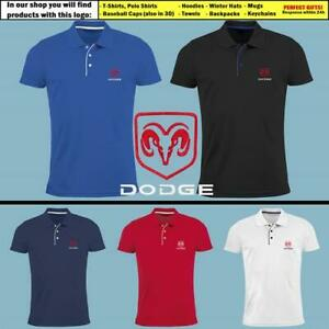 DODGE-Slim-Fit-Polo-T-Shirt-EMBROIDERED-Auto-Car-Logo-Tee-Mens-Clothing-Gift-Him