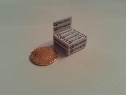 Soft ZECCHE tagliate Scala 1//12-Scatola di pagliette caramelle per Dollshouse Miniatures
