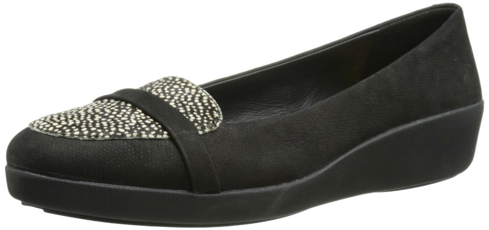 FitFlop™ F-POP LEATHER & PONY HAIR MIX LOAFERS PUMPS Schuhe UK 4.5 EU37.5