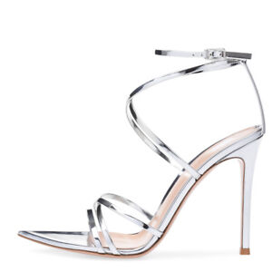 Women Shoes Pointy Open Toe High Heel Sandals Ankle Strap