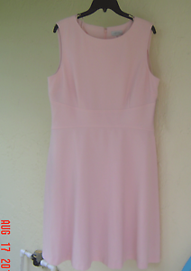 NWT TAHARI ASL PINK CAREER FLARE DRESS SIZE 14