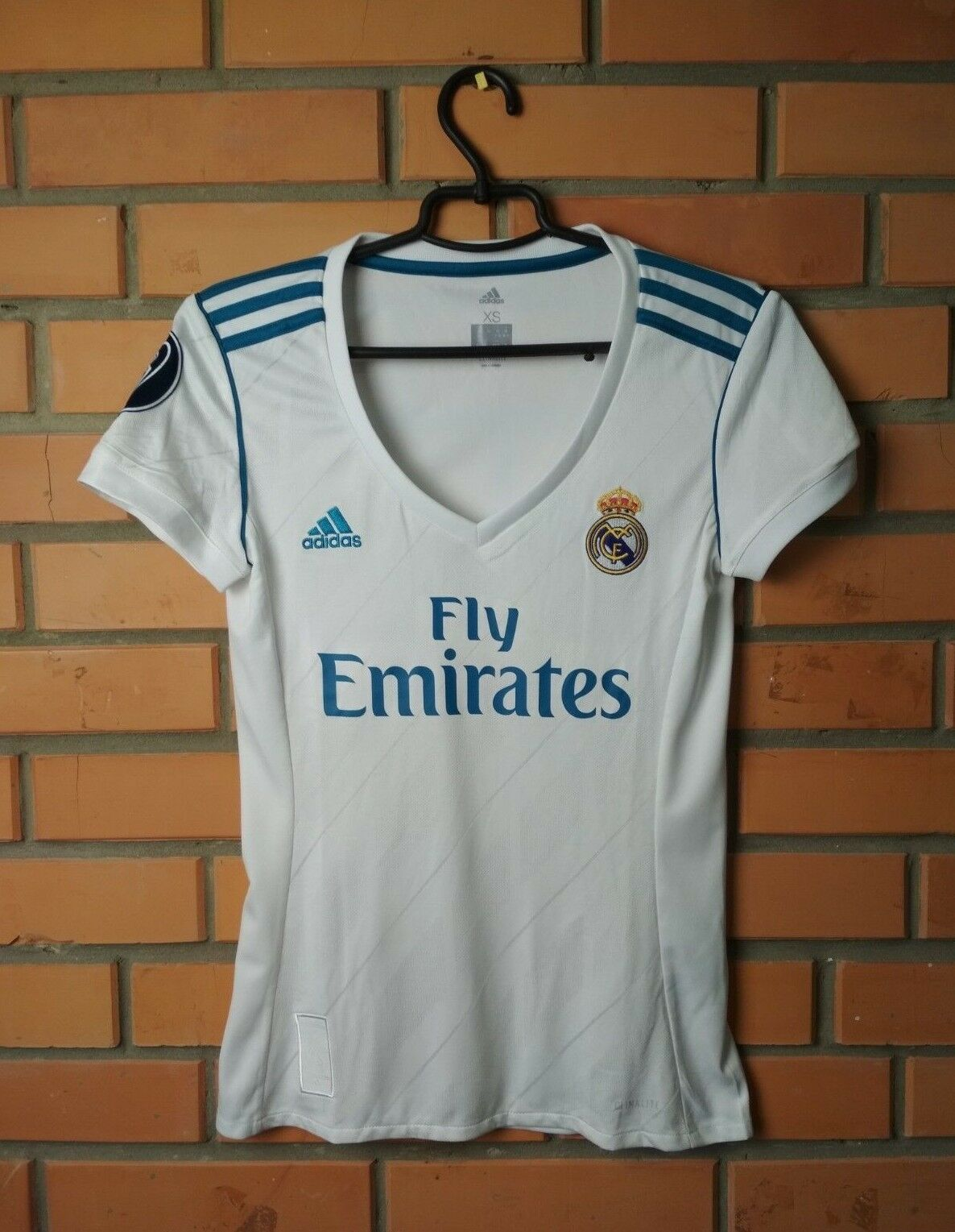 Camiseta de fútbol del Real Madrid 2018, camiseta de fútbol local, mujer Adidas talla XS