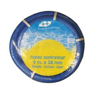 TUYAU-ASPIRATEUR-PISCINE-9-METRES-DIAMETRE-38-MM-FLEXIBLE-FLOTTANT-LEGER