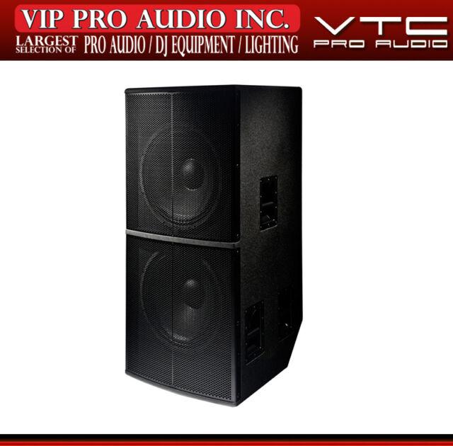 "Yorkville VTC NS9 Dual 18"" Birch Enclosure 2400W 4-Ohm High Output Subwoofer Sub"