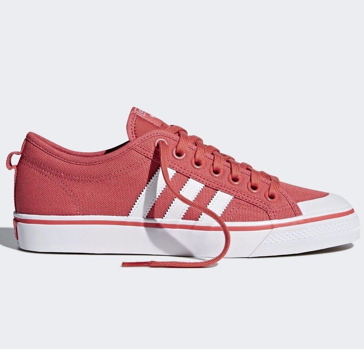 Adidas Originals Nizza Lo ® ( Men UK Größes  11 & 11.5 ) Scarlet rot Canvas