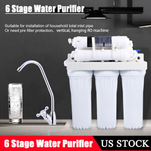 a9e6e6e6cef Premium 6 Stages undersink RO Reverse Osmosis Water Filter System ...