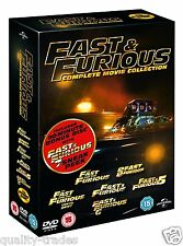 ❏ Fast and Furious 1 - 6 DVD Collection + EXTRAs ❏ 1 2 3 4 5 & 6 + 7 Sneak Peek