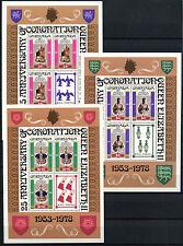 Grenada 1978 SG#946-8, 25th Anniv Of Coronation P12 MNH Sheetlets Set #D32823
