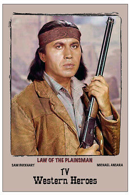 "4/""x6/"" MAGNET PRINT /""LAW OF THE PLAINSMAN./"" FEATURING MICHAEL ANSARA."