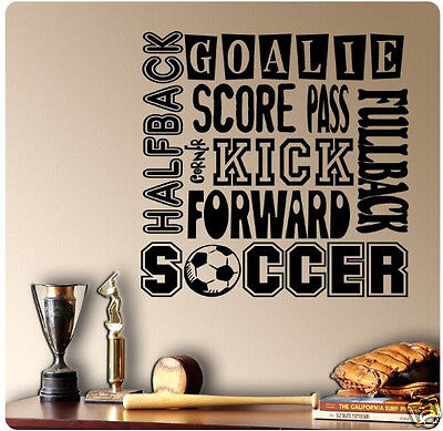 OVAL SOCCER Goalie Diving for Ball Cleats Goal Glove Save Car Decal Wall Sticker
