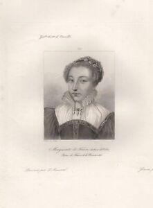 Daisy-de-France-Duchess-of-Valois-Queen-France-Navarre-Engraving-Xixth
