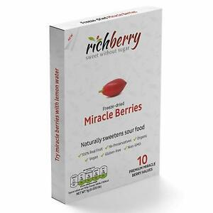 Miracle-Berry-by-richberry-10-halves-100-Real-Fruit-Organic-Vegan