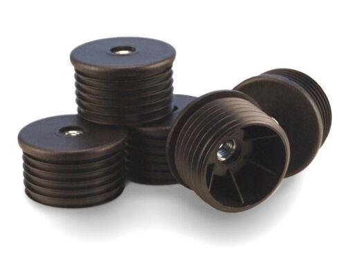 Rohrstopfen 22mm WS 1,5-2,0 mm rund mit Gewindebuchse M8 Fussstopfen