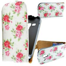 Rose Garden Flip Leather Skins Hard Covers Case For Samsung Galaxy S3 Mini i8190