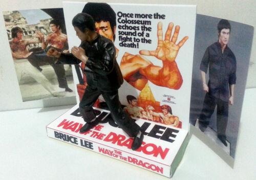 THE WAY OF THE DRAGON Action Figure on Custom Design Display Diarama BRUCE LEE