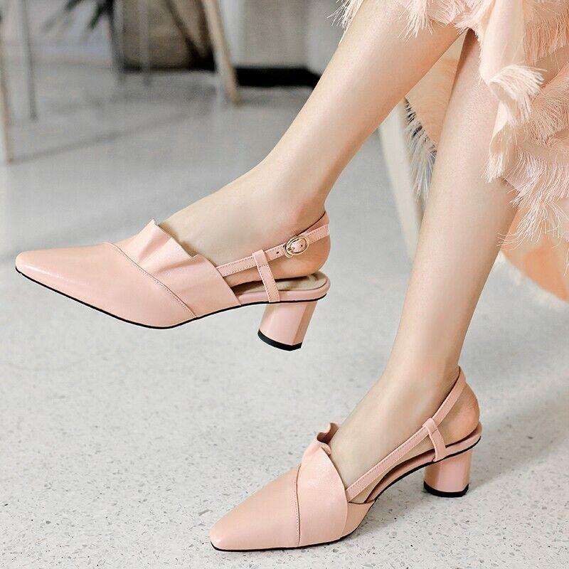 Princesse Sandales Escarpins À Sangle et Boucle Sandales Chaussures en cuir Parti Prom
