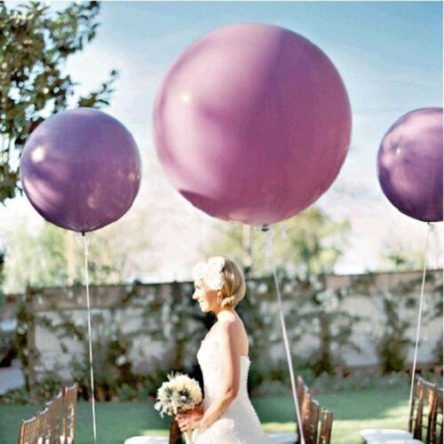 "2x Colorful 36/"" Inch Giant Big Ballon Latex Birthday Wedding Party Helium EL"