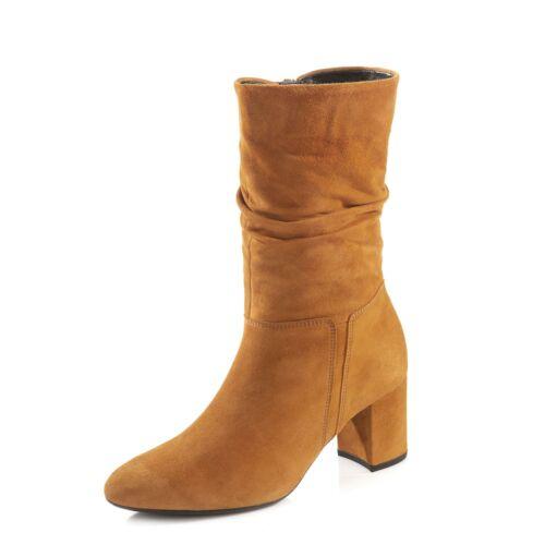 Gabor Damen Stiefel Stiefeletten Absatzschuh Freizeitschuh Lifestyle Schuh gelb