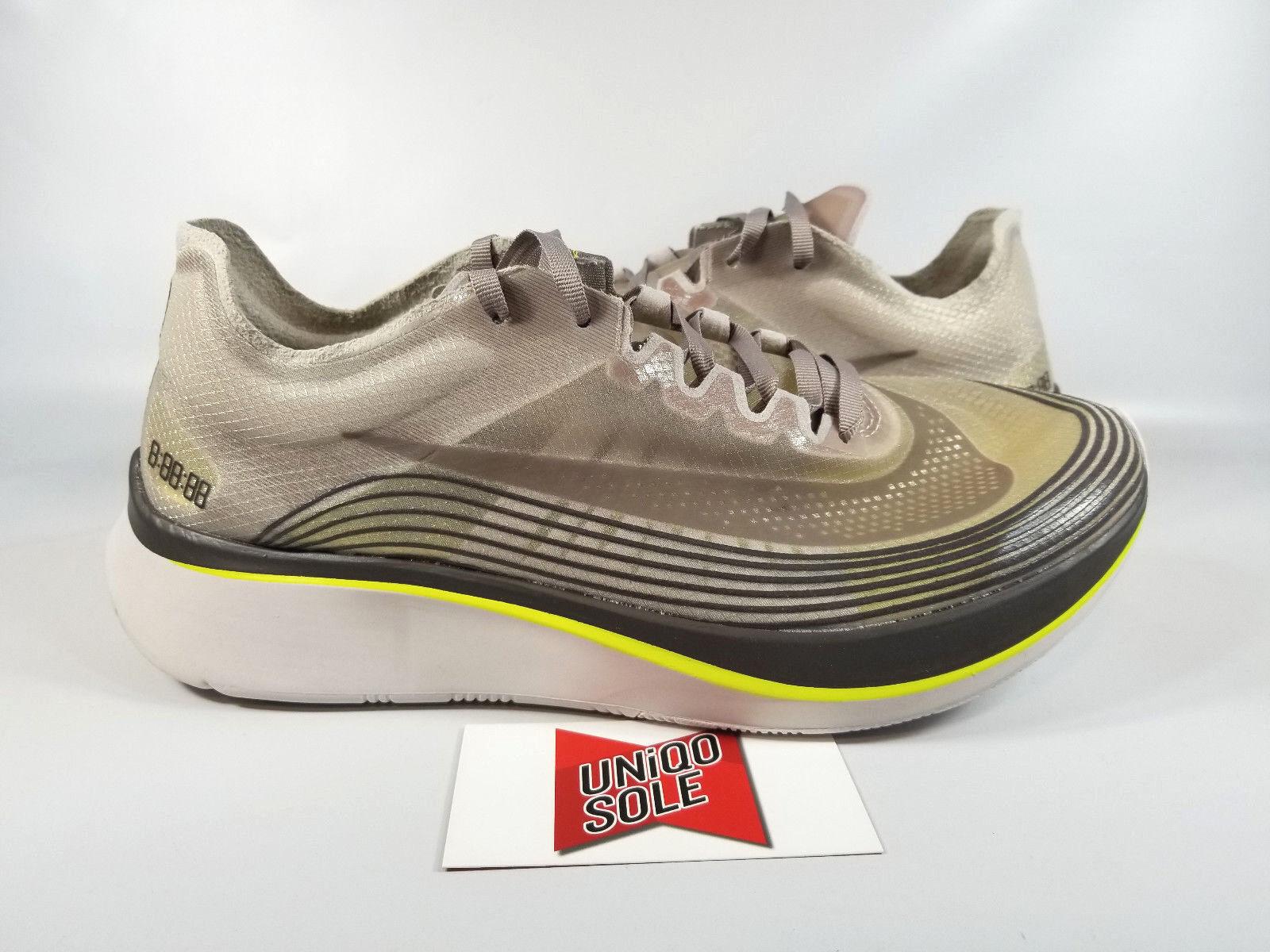 Nike NikeLab Zoom Fly SEPIA STONE GREY AA3172-201 sz 9 RUNNING RACING VAPORFLY